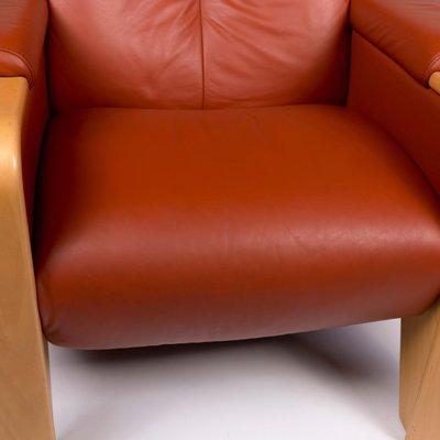 Vintage Terracotta Brown Leather Sofas