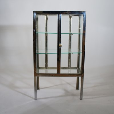 Vintage Steel And Glass Display Cabinet 1930s For Sale At Pamono