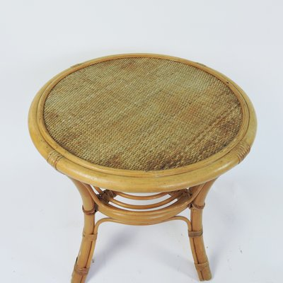 Cane And Rattan Round Coffee Table