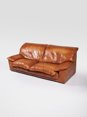 Large Leather Sofa By Harry De Groot