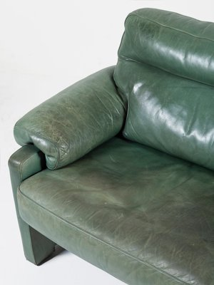 Green Leather Sofa From De Sede 1980s
