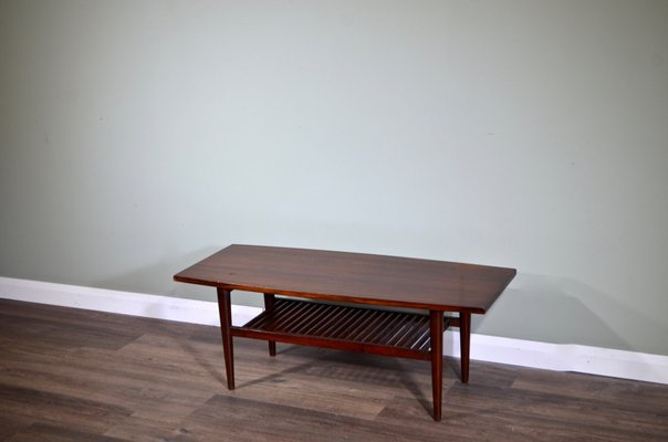 Mid Century Danish Afromosia Coffee Table 1960s