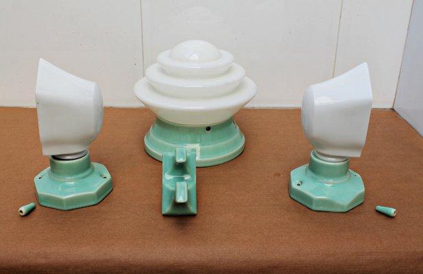 Art Deco Bathroom Lighting Set For