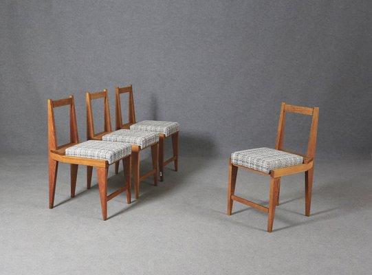 Sedie da pranzo di Augusto Romano, anni '50, set di 4