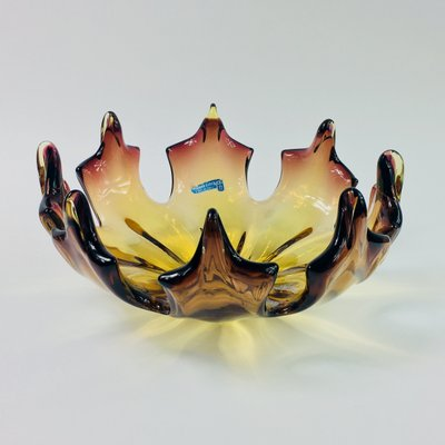 Mid Century Flamed Centerpiece From Made Murano Glass For Sale At Pamono