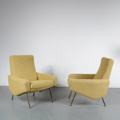 L Anfora Rattan Amphoren Lounge.French Model Troika Lounge Chairs By Pierre Guariche For Airborne