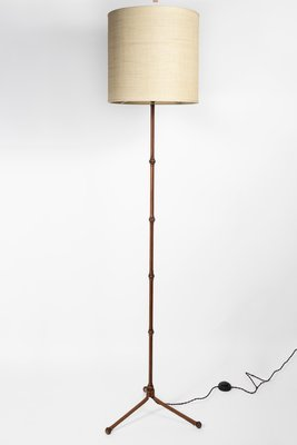 Bamboo Floor Lamp By Jacques Adnet