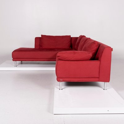 Vintage Red Corner Sofa from Koinor