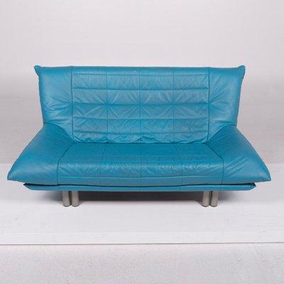 Divani In Pelle Blu.Divani Vintage In Pelle Blu Di Rolf Benz Set Di 2 In Vendita Su