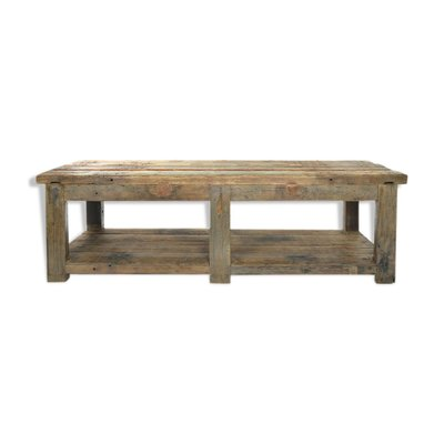 Patinated Wooden Dining Table 1940s