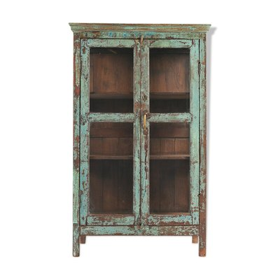 Wood And Glass Cabinet 1940s For Sale At Pamono
