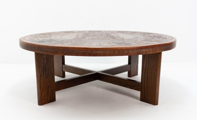 Indian Leather Coffee Table 1972 For Sale At Pamono