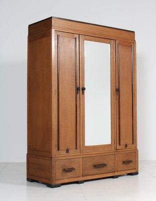 Art Deco Oak Wardrobe 1920s For Sale At Pamono