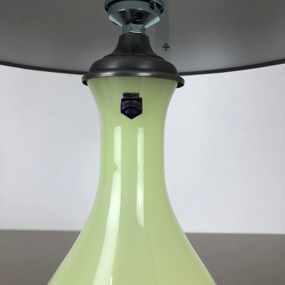 Mid Century Lime and Opaline Murano Glass Table Lamp from Cenedese Vetri