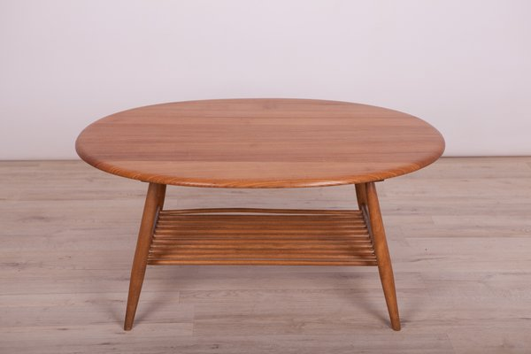 Mid Century Elm Coffee Table By Lucian Ercolani For Ercol 1960s For Sale At Pamono