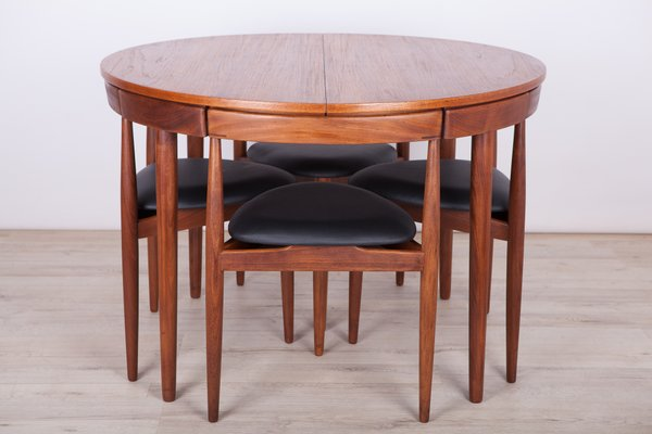 Mid Century Teak Dining Table Chairs Set By Hans Olsen For Frem Rojle 1950s For Sale At Pamono