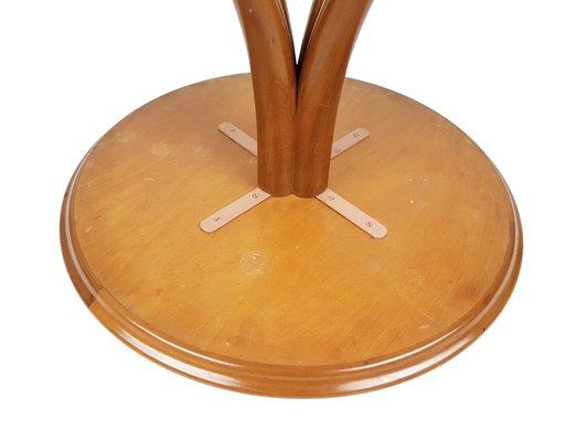 Tavolino da caffè in vetro specchiato e legno di Pietro
