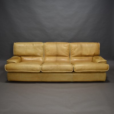 Cognac Leather Sofa 1970s For At