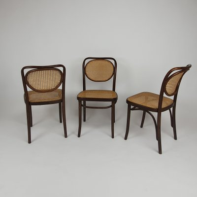 Bentwood & Cane Dining Chairs from ZPM Radomsko, 1960s, Set of 6