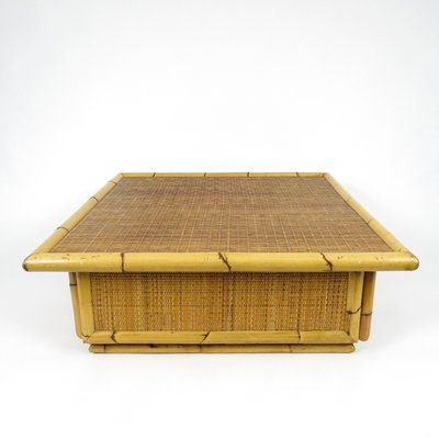 Bamboo And Rattan Coffee Table 1970s For Sale At Pamono