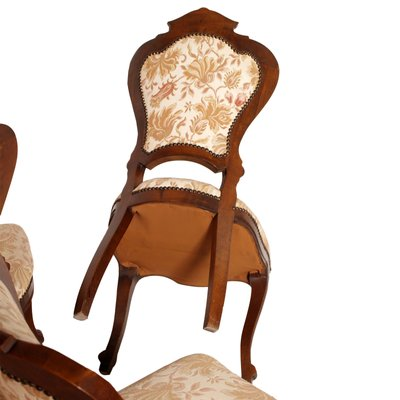 Italian Carved Walnut Dining Chairs