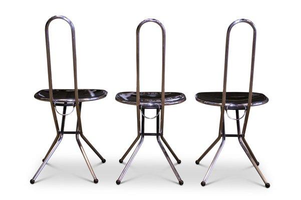 Sedie Pieghevoli Economiche Ikea.Sedie Pieghevoli In Perspex Nero E Metallo Cromato Di Niels