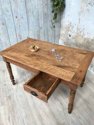 Vintage Farm Dining Table For At