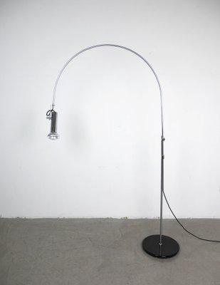 Italian Chrome Adjustable Gooseneck Floor Lamp By Joe Colombo 1970s For Sale At Pamono