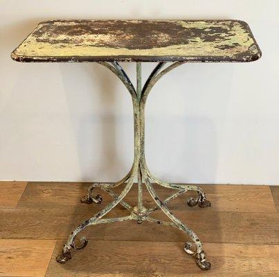 Tavolo Esterno Ferro Battuto.Antique French Wrought Iron Garden Table For Sale At Pamono