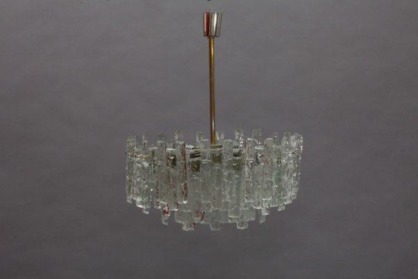 Vintage Ice Glass Chandelier by J.T. Kalmar for Kalmar, 1960s