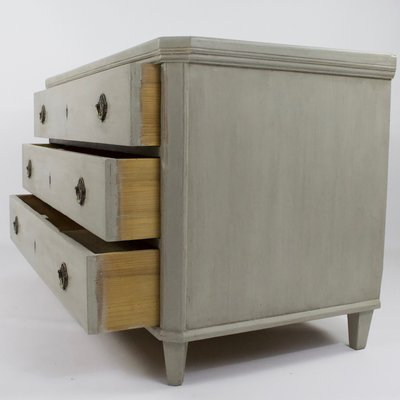 Antique Gray Painted Dresser For