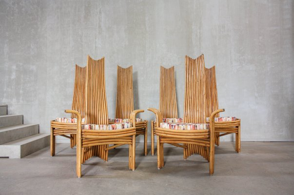 Bamboo Dining Chairs From Mcguire 1970s Set Of 6 For Sale At Pamono