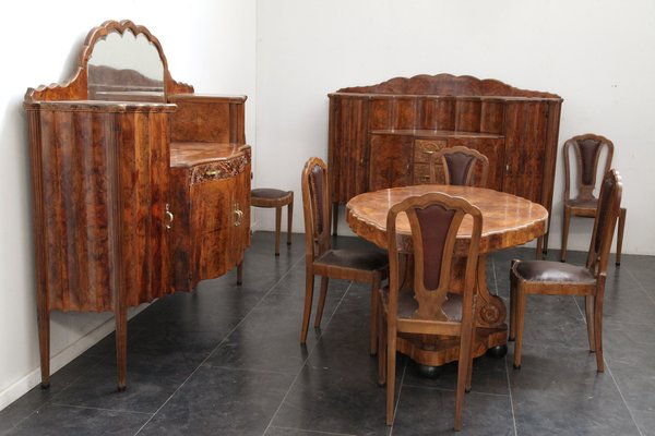 Art Deco Dining Room Set From Meroni Fossati 1930s For Sale At Pamono