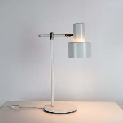 Danish White Lento Table Lamp by Jo Hammerborg for Fog & Mørup, 1960s