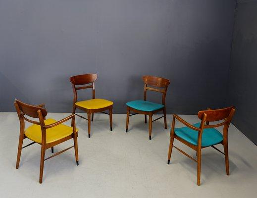 Sedie Design Legno E Pelle.Sedie Da Pranzo Mid Century In Legno E Pelle Stati Uniti Anni