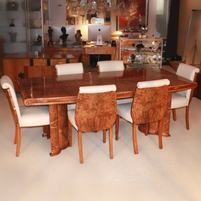 Art Deco Dining Table Chairs Set 1930s For Sale At Pamono