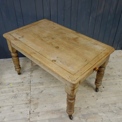 Antique Victorian Farmhouse Kitchen Table For Sale At Pamono