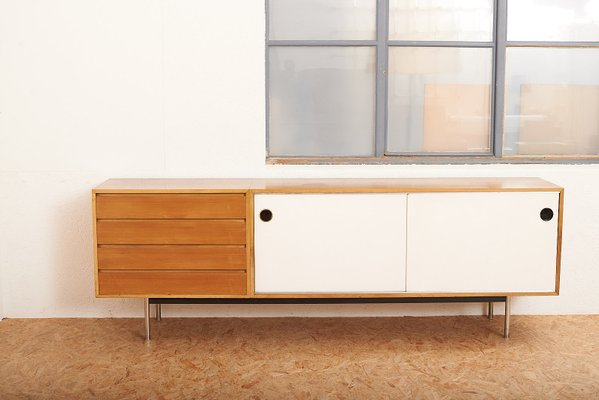 Mid Century Chromed Steel And Walnut Veneer Sideboard By Kurt Thut For Thut Möbel 1950s For Sale At Pamono