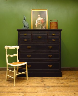 Antique Black Painted Dresser For