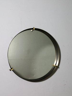 Vintage Brass Round Mirror 1950s For, Vintage Brass Mirror Wall Hanging