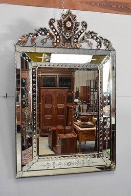 Vintage Italian Gl Beveled Mirror
