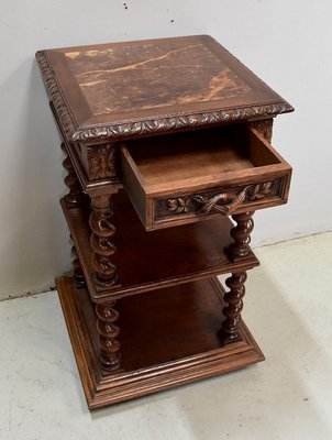 Small Antique Louis Xiii Style Light Oak Side Table 1900s For At Pamono - Small Oak Side Table With Drawers