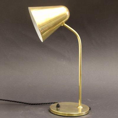 Lampe de Bureau Ajustable Mid Century en Laiton par Jacques Biny pour Luminalité, années 50