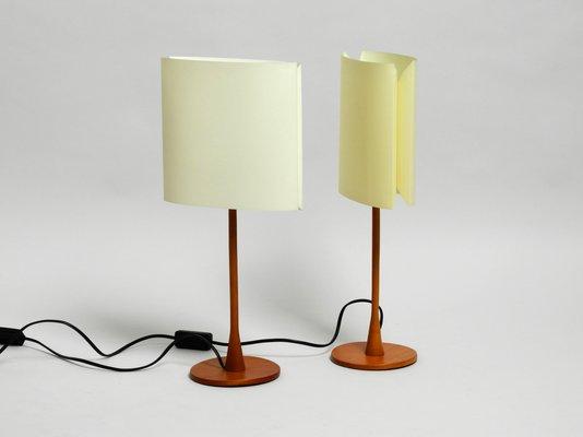 Vintage Teak Model Sara Table Lamps By Pierluigi Cerri For Fontana Arte Set Of 2 For Sale At Pamono