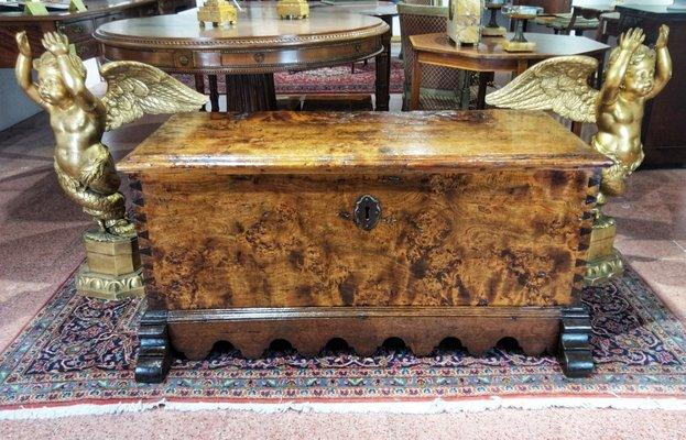 Antique Spanish Walnut Wedding Hope Chest For Sale At Pamono