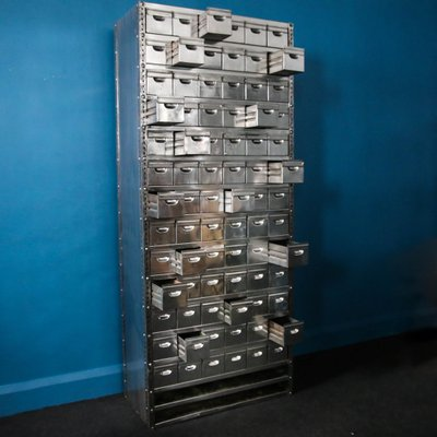 Vintage Steel Multi Drawer Storage Unit For Sale At Pamono