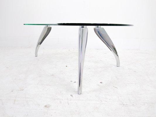 Cast Aluminum Kidney Coffee Table