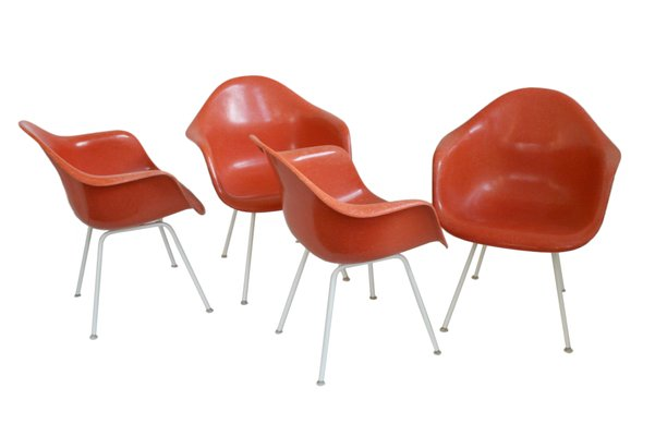 Genial DAX Shell Chairs By Charles Eames For Vitra, 1950s, Set Of 4 1