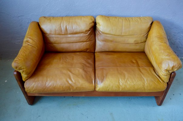 Leather Teak Sofa From A S Mikael Laursen 1960s For Sale At Pamono