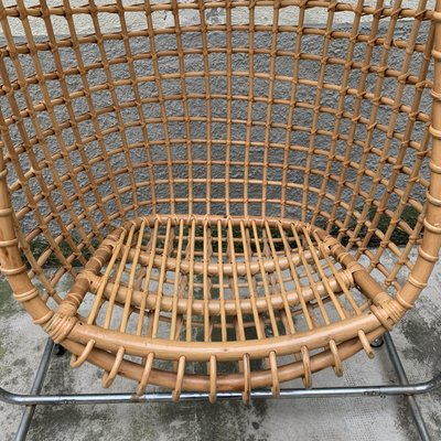Vintage Bamboo Hanging Chair For Sale At Pamono